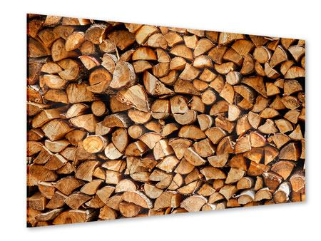 Acrylglasbild Gestapeltes Holz