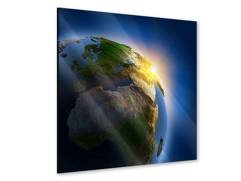 Acrylglasbild Sonne und Erde