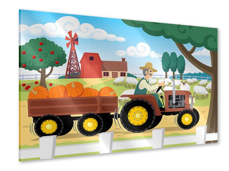Acrylglasbild Bauernhof