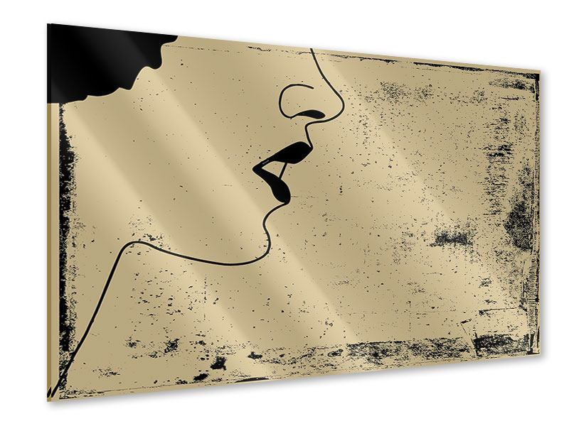 Acrylglasbild Frauenportrait im Grungestil