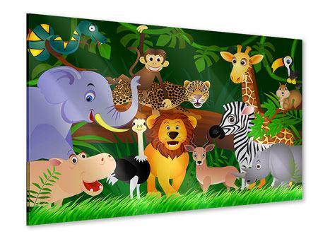 Acrylglasbild Dschungelkönig
