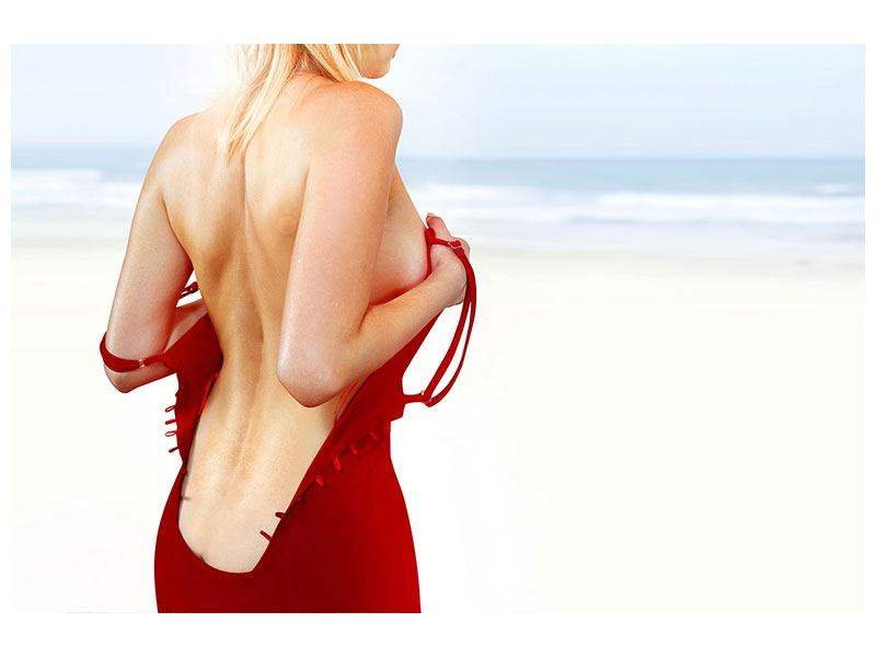 Acrylglasbild Rücken einer Schönheit