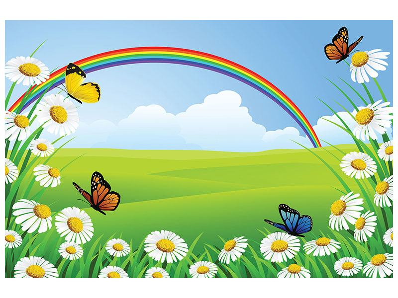 Acrylglasbild Der bunte Regenbogen