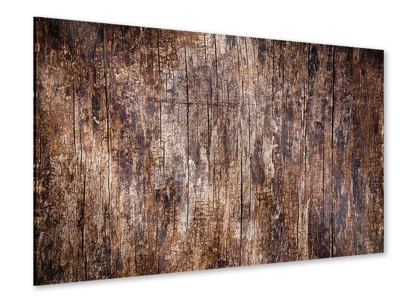 Acrylglasbild Retro-Holz