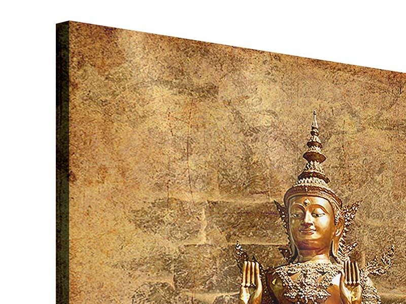 Acrylglasbild Goldene Buddha-Statue