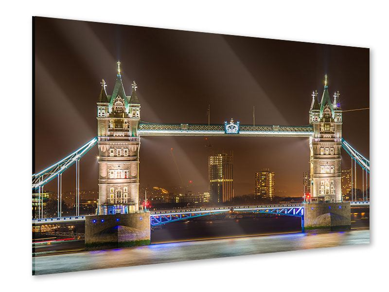 Acrylglasbild Tower Bridge bei Nacht