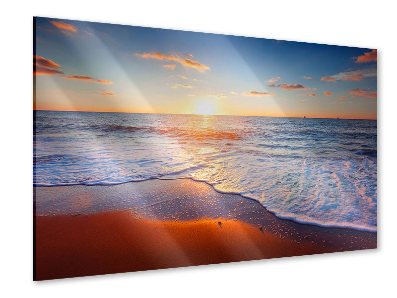 Acrylglasbild Sonnenuntergang am Horizont