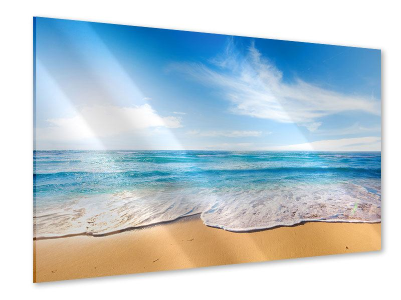 Acrylglasbild Spuren im Sand