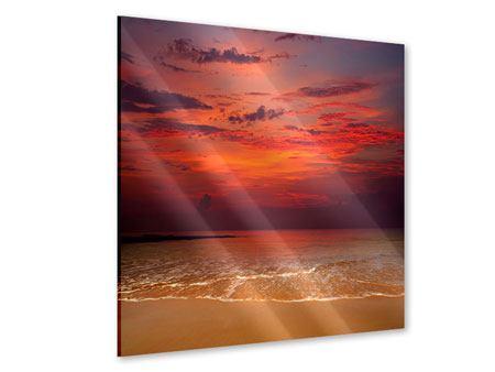 Acrylglasbild Zeile auf den Sand