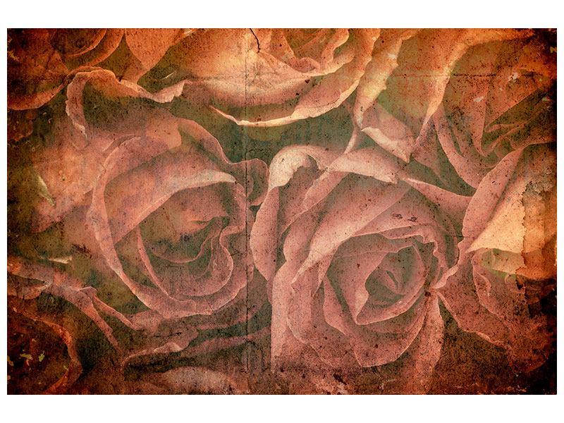 Acrylglasbild Rosenbukett