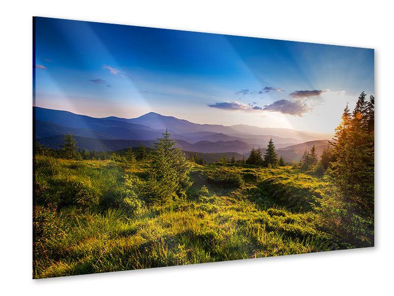 Acrylglasbild Friedliche Landschaft