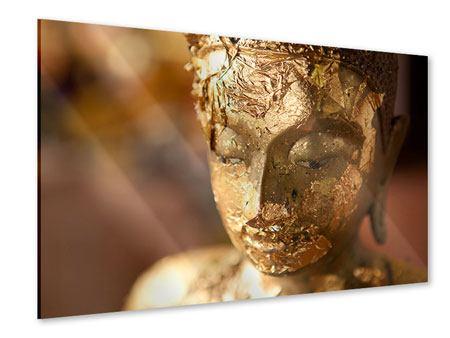 Acrylglasbild Kopf eines Buddhas