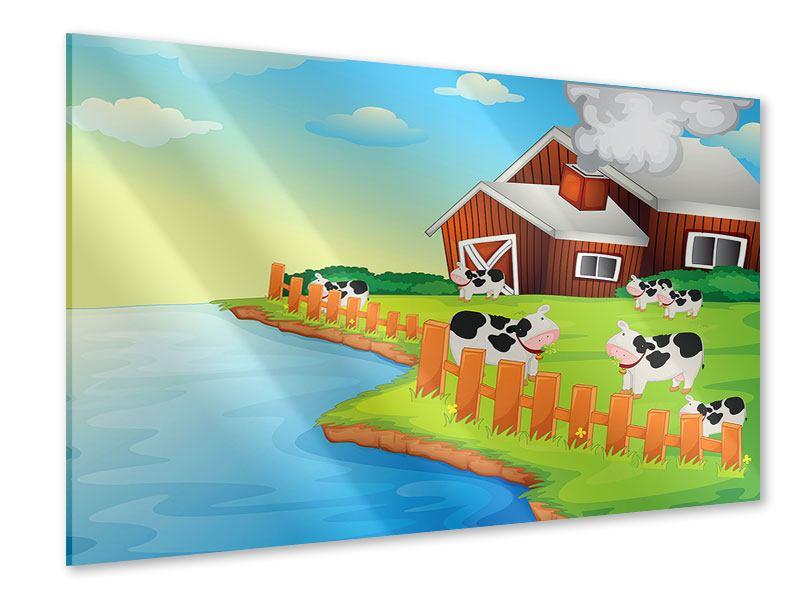 Acrylglasbild Eine Kuh macht Muh