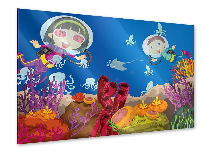 Acrylglasbild Fröhliche Fische
