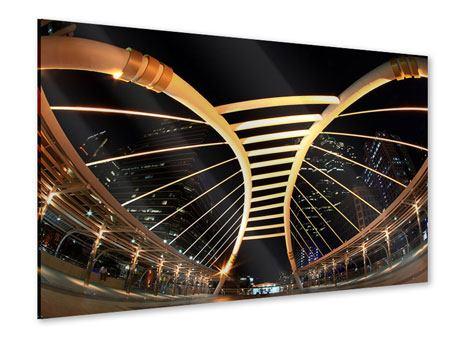 Acrylglasbild Avantgardistische Brücke