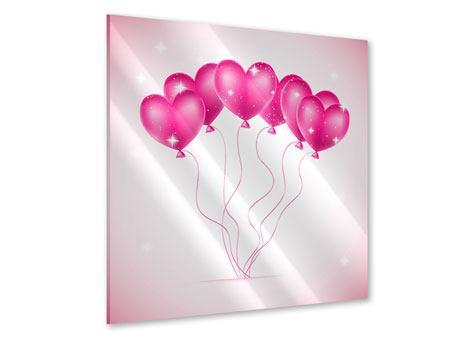 Acrylglasbild Herzballons