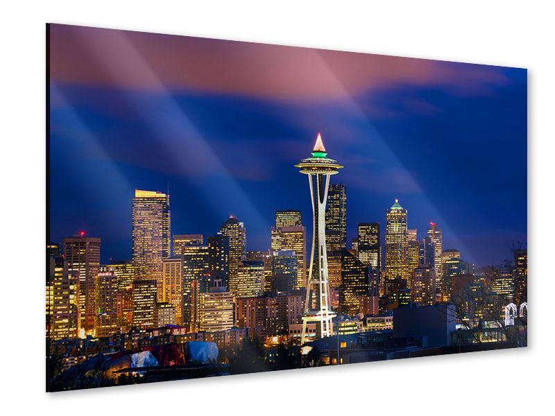 Acrylglasbild Skyline Seattle