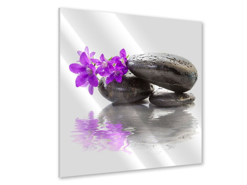 Acrylglasbild Feng Shui Steine