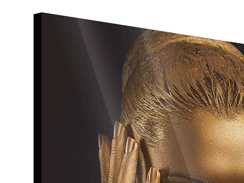 Acrylglasbild Gold-Face
