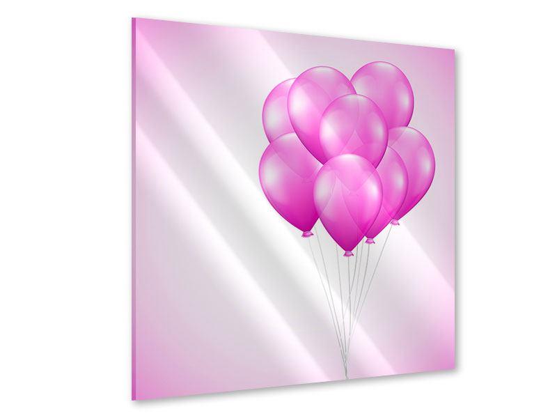 Acrylglasbild Rosarote Luftballons