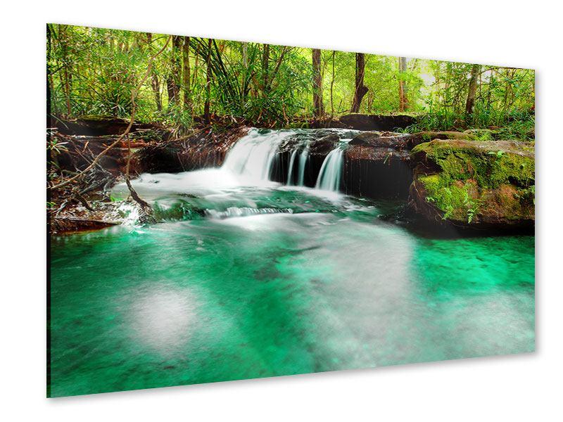 Acrylglasbild Der Fluss am Wasserfall