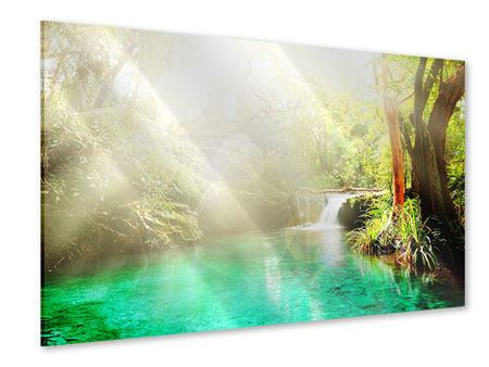 Acrylglasbild Die grüne Lagune