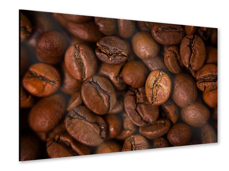 Acrylglasbild Close Up Kaffeebohnen