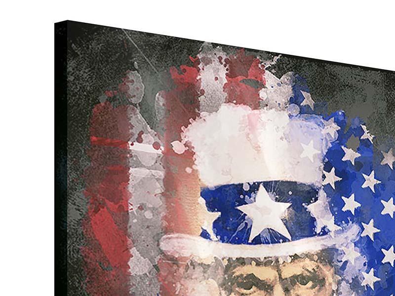 Acrylglasbild Uncle Sam