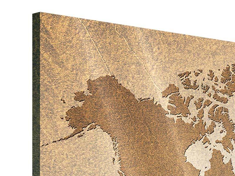 Acrylglasbild Karte der Welt in Vintage