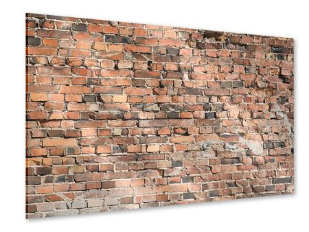 Acrylglasbild Alte Backsteinmauer