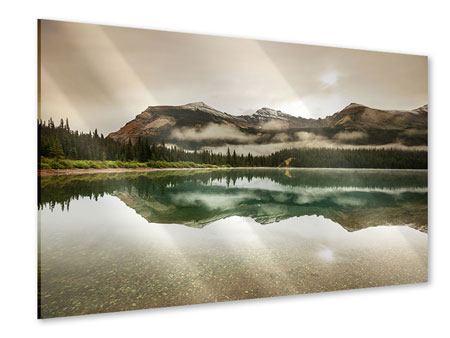 Acrylglasbild Spiegelung im Glacier Nationalpark