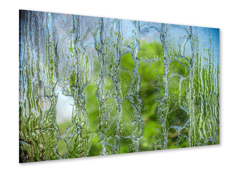 Acrylglasbild Hinter dem Wasserfall