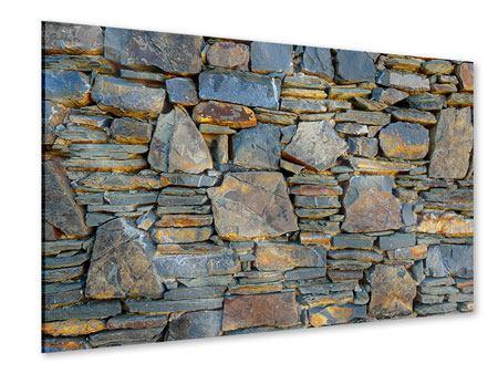 Acrylglasbild Natürliche Steinmauer