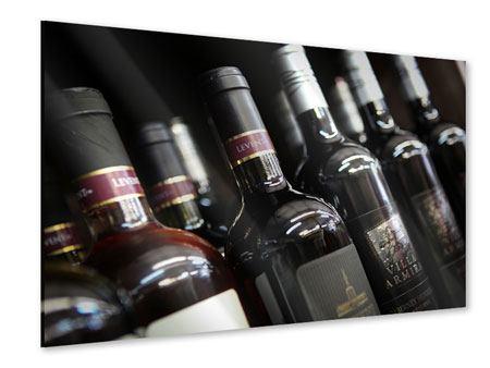 Acrylglasbild Flaschenweine