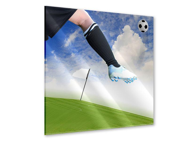 Acrylglasbild Fussball-Kicker