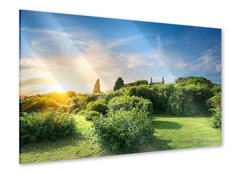 Acrylglasbild Sonnenaufgang im Park