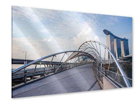 Acrylglasbild Helix-Brücke