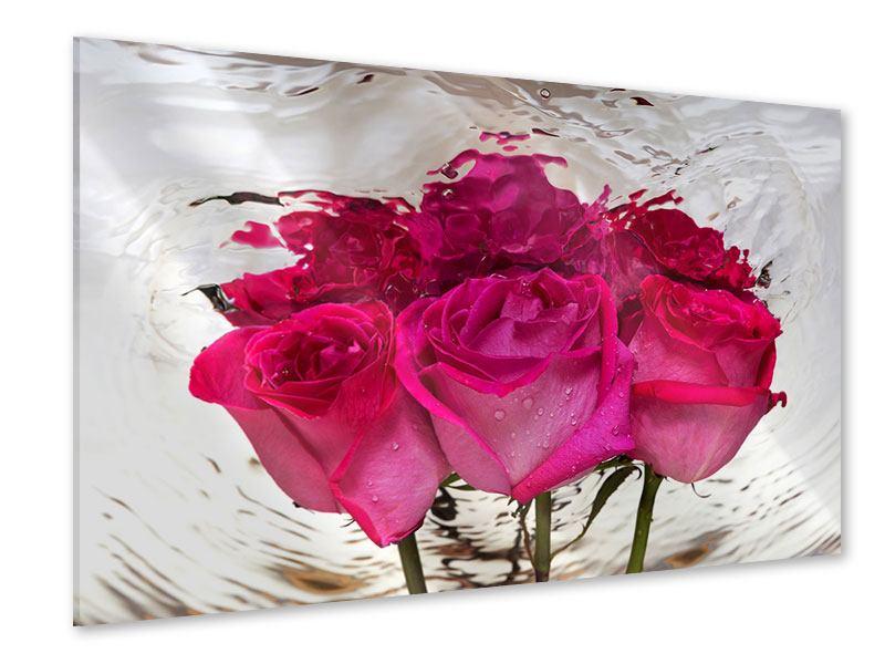 Acrylglasbild Die Rosenspiegelung