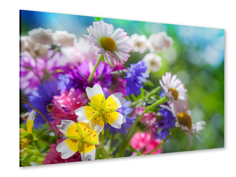 Acrylglasbild XXL Gartenblumen