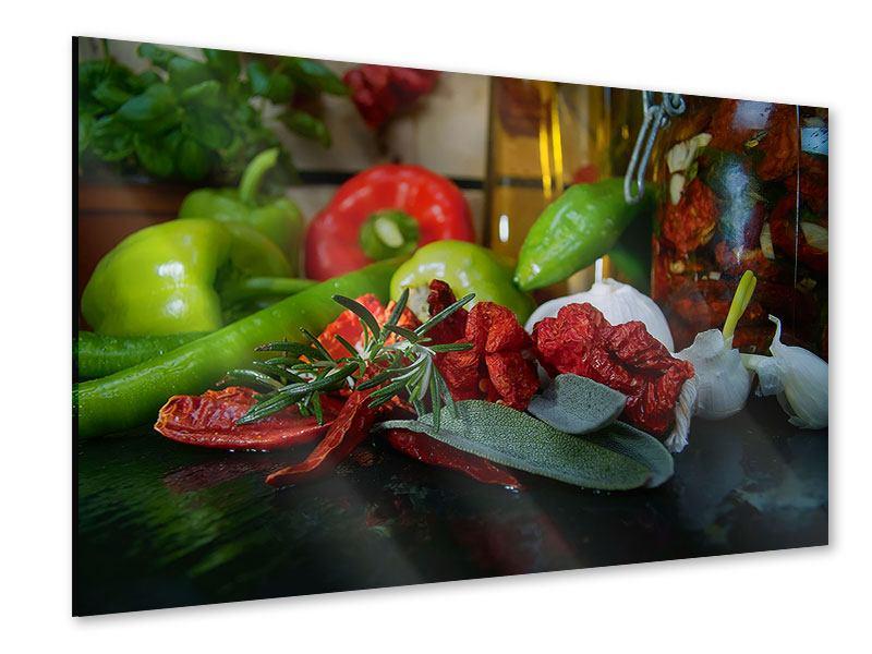 Acrylglasbild Mediterranes Gemüse