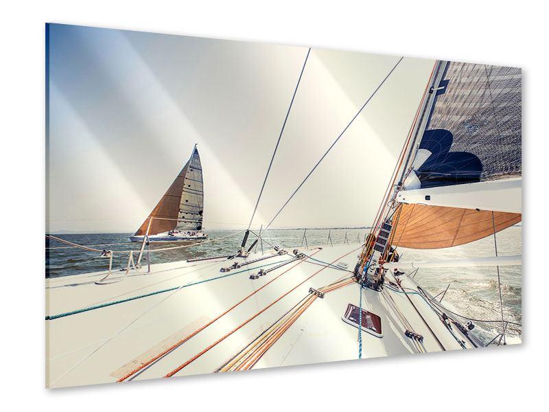 Acrylglasbild Segelyacht