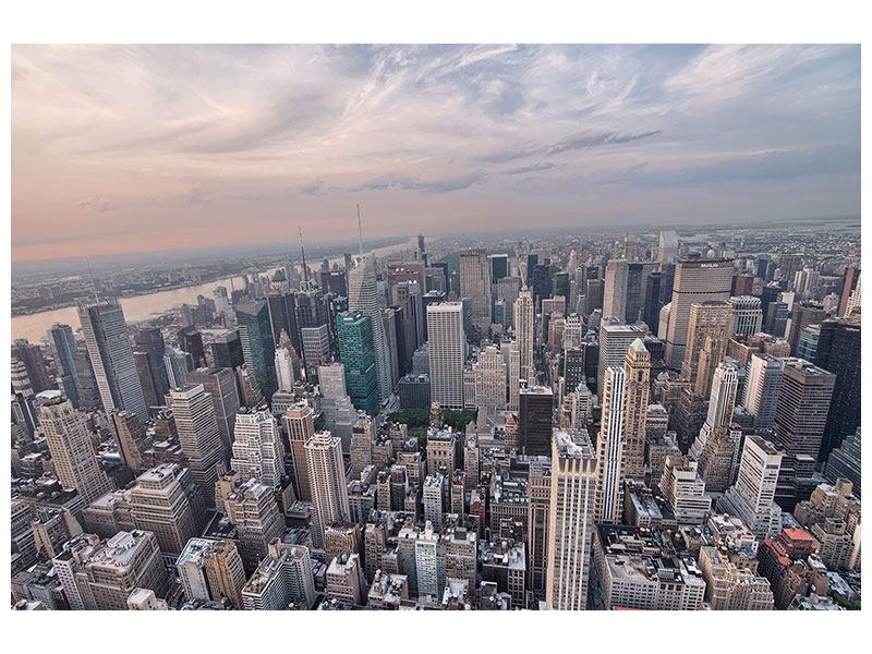 Acrylglasbild Skyline Blick über Manhattan