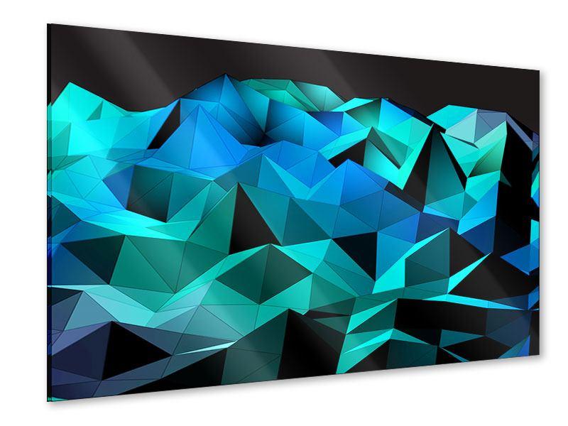 Acrylglasbild 3D-Diamonds