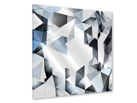 Acrylglasbild 3D-Kristalle