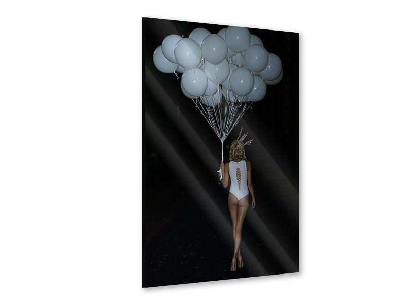Acrylglasbild Geheimnissvolle Lady