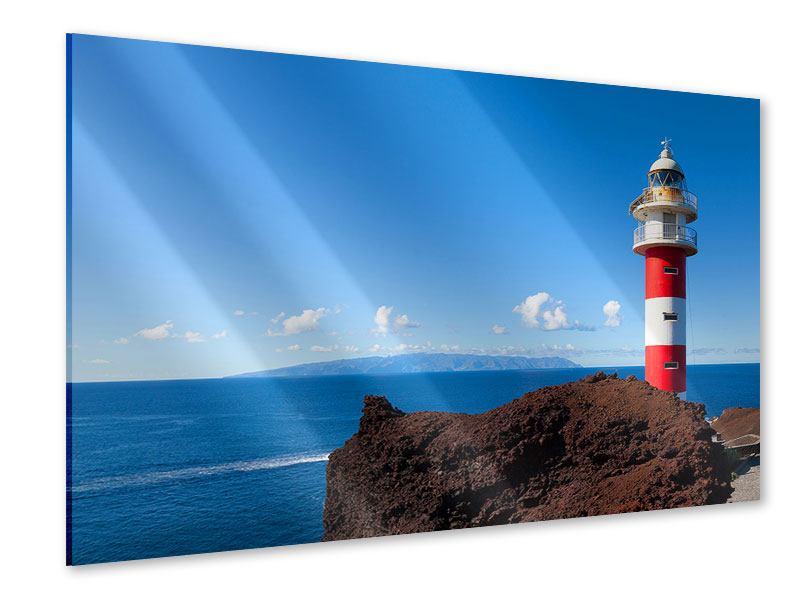 Acrylglasbild Leuchtturm in Punta Teno