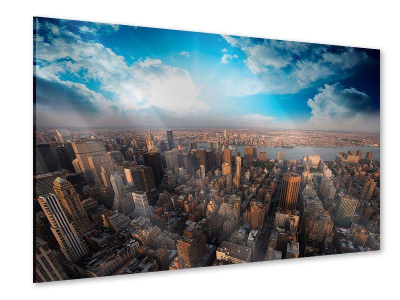 Acrylglasbild Skyline Über den Dächern von Manhattan