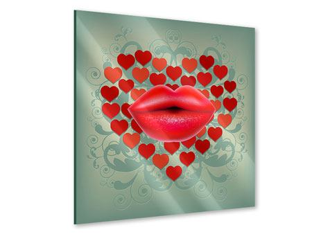 Acrylglasbild Rote Lippen soll man küssen