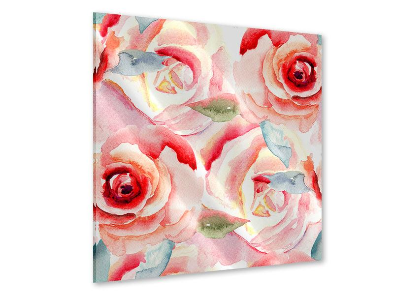 Acrylglasbild Rosengemälde