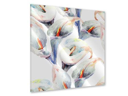 Acrylglasbild Lilien Aquarell
